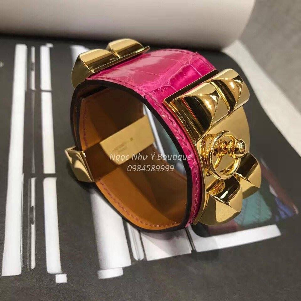 Hermes CDC Crocodile Pink