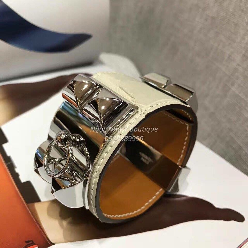 Hermes CDC Crocodile White