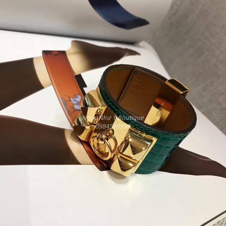 Hermes CDC Crocodile Green