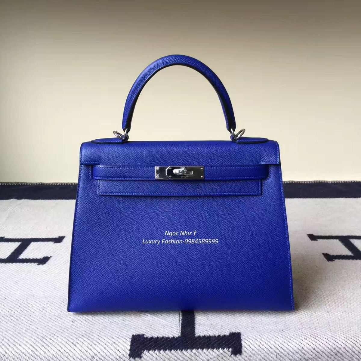 Túi Hermes Kelly 28 Epsom màu Blue Electric