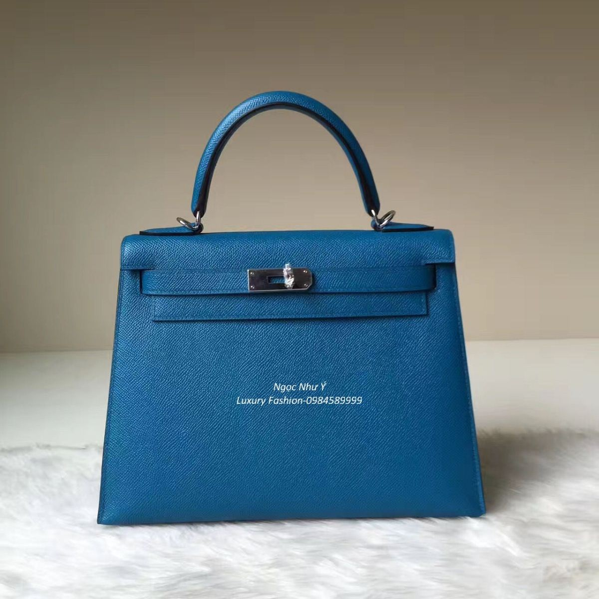 Túi Hermes Kelly 28 Epsom màu Blue France