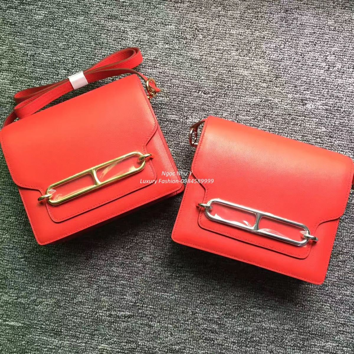 Hermes Roulis Mini 19 Swift Red