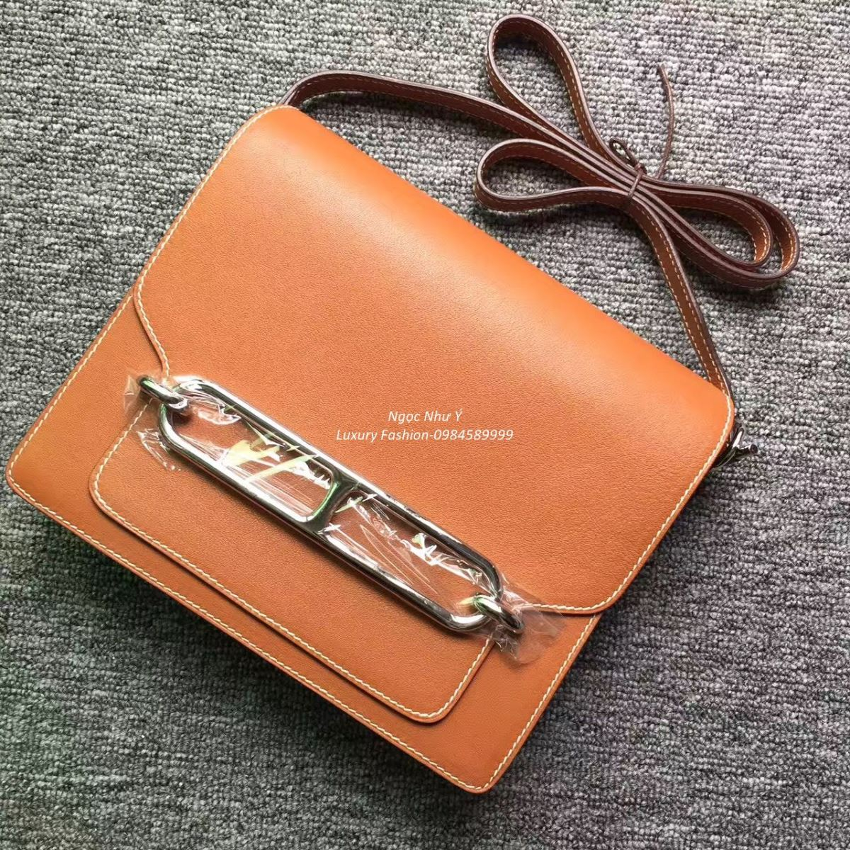 Túi Hermes Roulis 23 Swift màu Light Brown