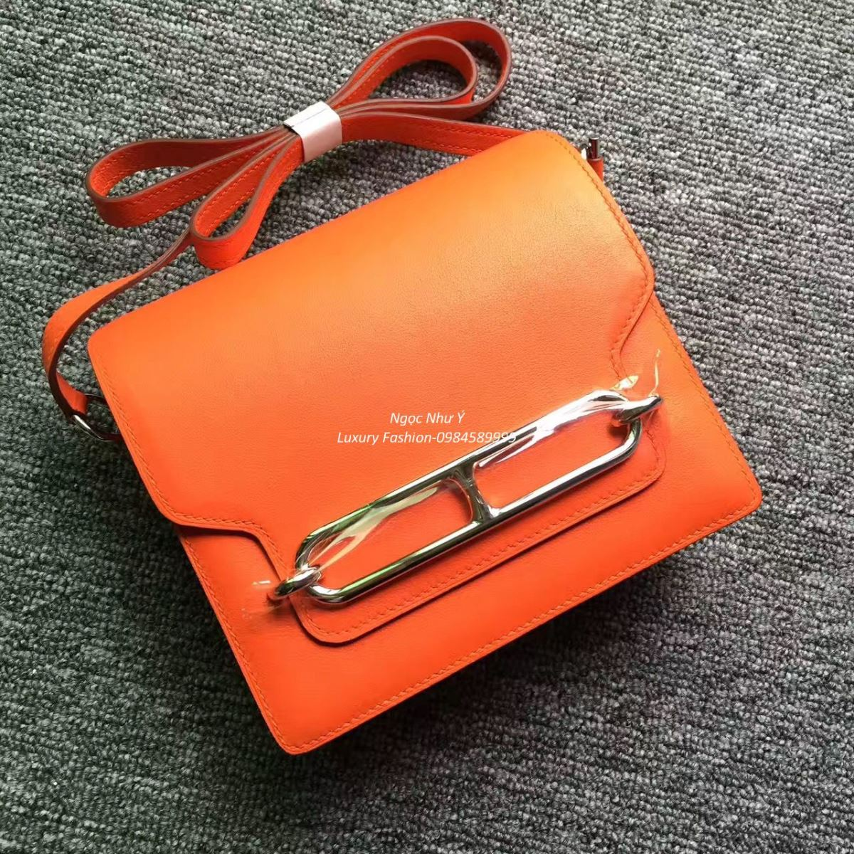 Túi Hermes Roulis Mini 19 Swift màu Orange