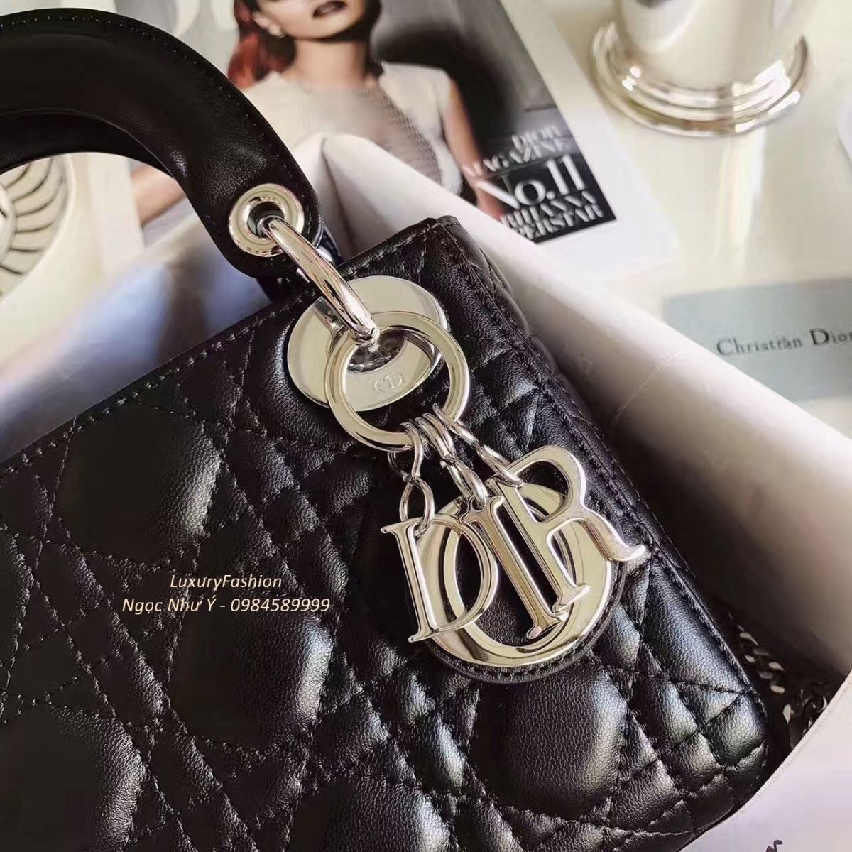 Mini Lady Dior Bag Black Lambskin