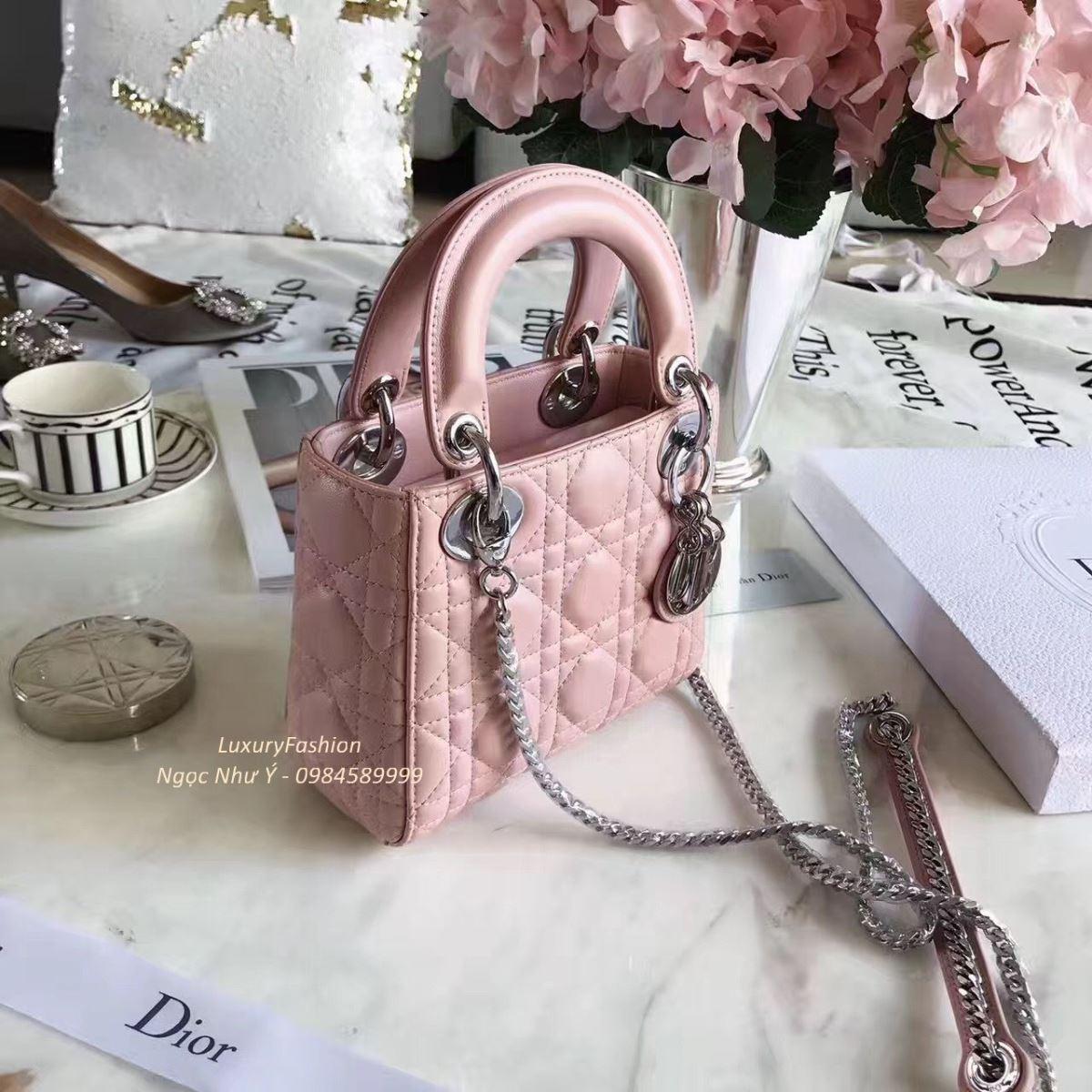 8f0c39c16a Mini Lady Dior Bag Pink Lambskin